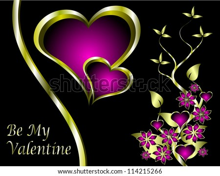 A vector valentines background  a large central heart with room for text - stock vector