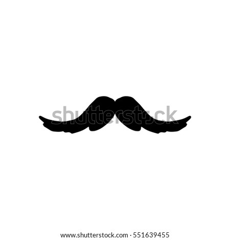 Vintage Hipster Mustaches Hand Drawn Symbol Men Stock Vector