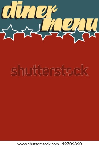 A vintage themed Americana blank Diner Menu template - stock vector