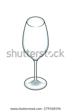 A white wine glass. - stock vector