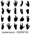 A wide range of hand movements - stock photo