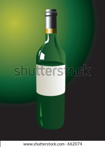 A wine bottle in vector format - stock vector