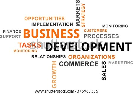 A word cloud of business development related items - stock vector