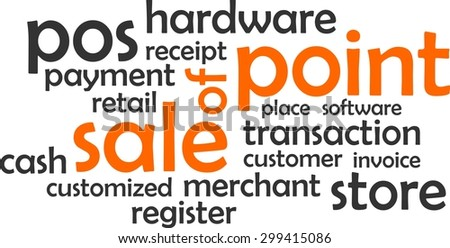 A word cloud of point of sale related items - stock vector