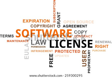 Word Cloud Software License Related Items Stock Vector 259300295