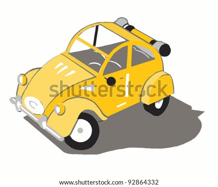 A yellow french car