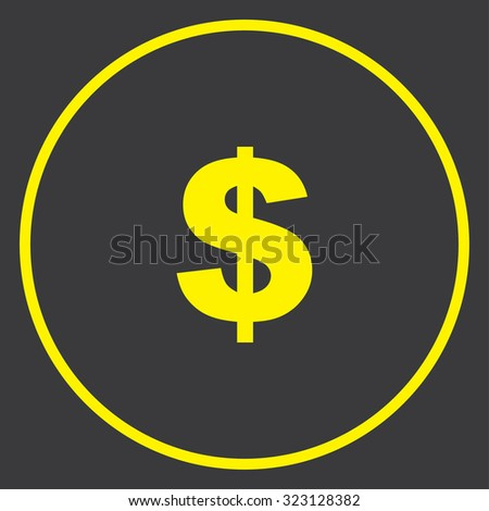 A Yellow Icon in a Circle - Dollar Sign