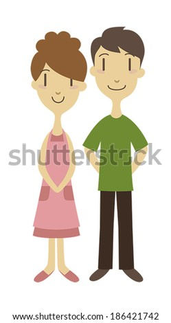 A young couple /vector illustration