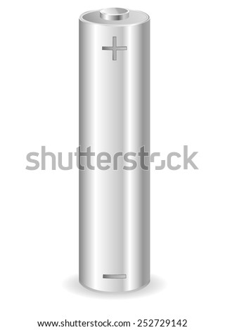 AA battery - vector illustration - stock vector