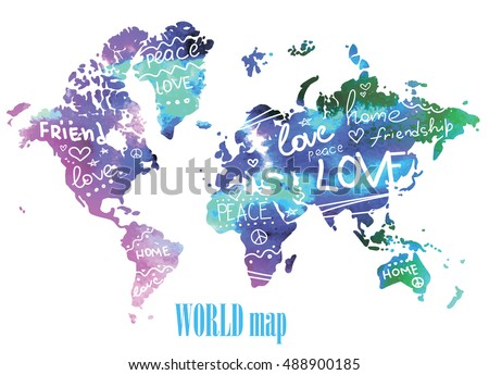 World map words poster etamemibawa world map words poster gumiabroncs Choice Image