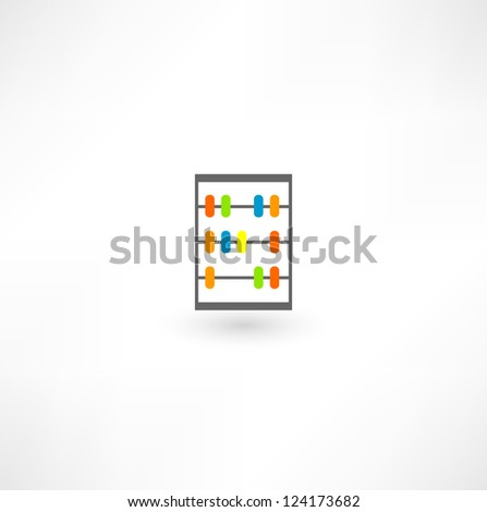 Abacus Icon - stock vector