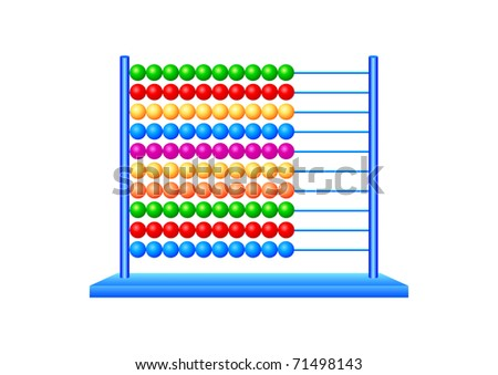 Abacus on a white background - stock vector