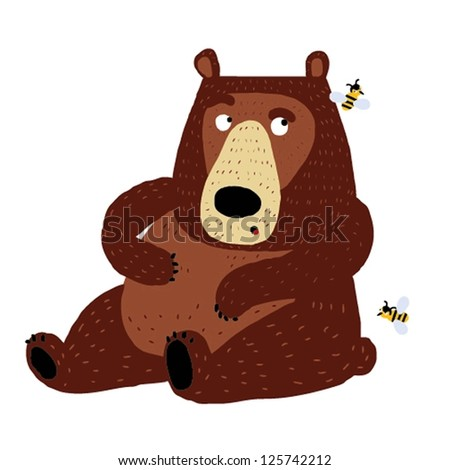 ABC animals: B is for bear. Vector Graphics