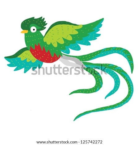 ABC animals: Q is for quetzal. Vector Graphics - stock vector