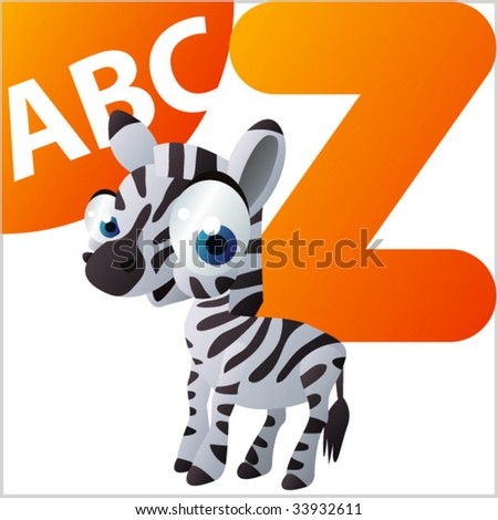 ABC Animals: Z is for Zebra - stock vector