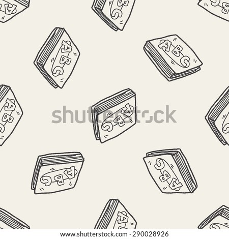 abc book doodle seamless pattern background