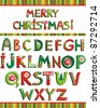 ABC. Colorful Christmas alphabet isolated on White background. Vector illustration - stock vector