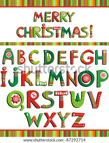 Christmas Alphabet Stock Images, Royalty-Free Images & Vectors ...