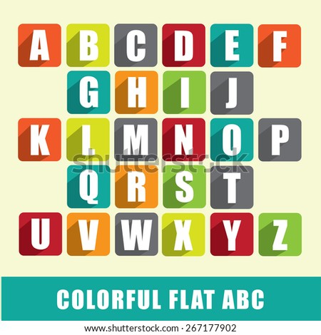 ABC - colorful flat design characters - stock vector