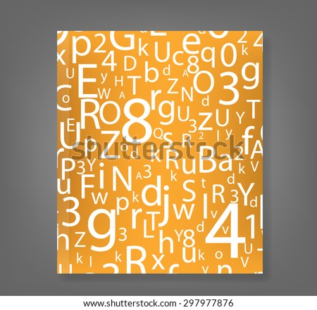 ABC Designed background book., vector  - stock vector