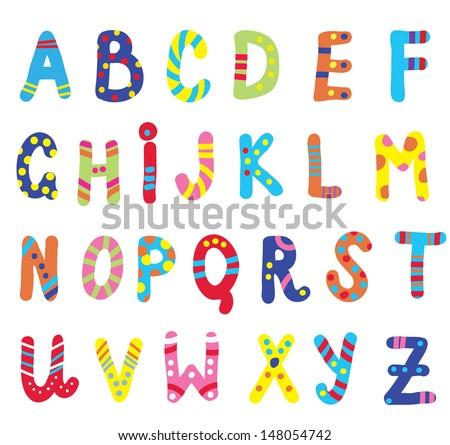 Abc for children funny design  - stock vector