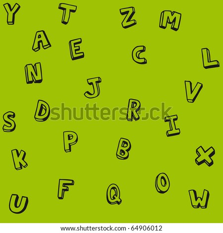 abc pattern school - stock vector