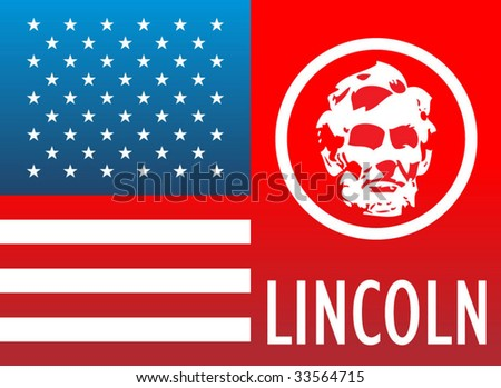 Abraham Lincoln illustration - stock vector