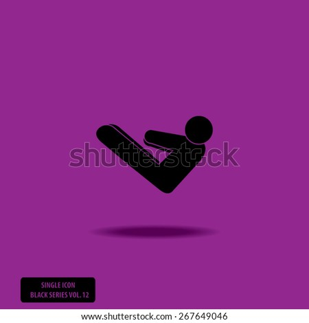 ABS Exercise - Hands to Toes - Single Icon Series vol. 12 - stock vector