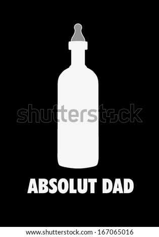 Absolute Dad t-shirt - stock vector