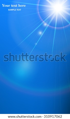 Abstract a blue background with beams