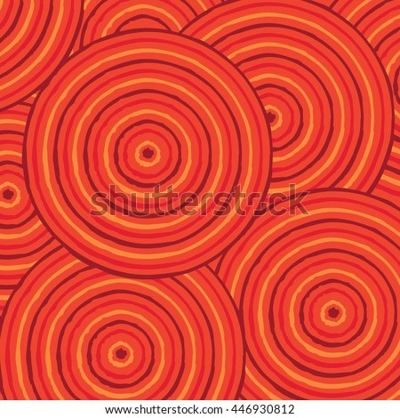 Abstract Aboriginal line painting in vector format. - stock vector