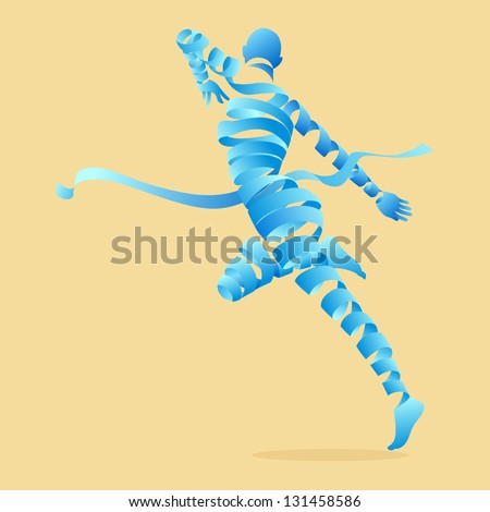 Abstract aerobics dance to slim, illustration by vector design. - stock vector
