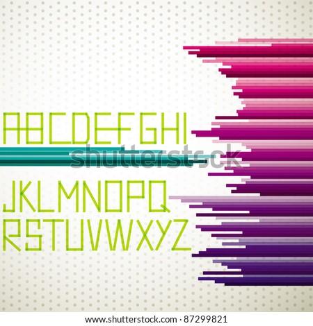 Abstract alphabet set - stock vector