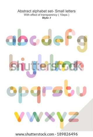 Abstract alphabet set - Small letters ( eps 10 ) - stock vector