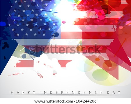 Abstract American flag background, vector Illustration in Eps 10 format. - stock vector