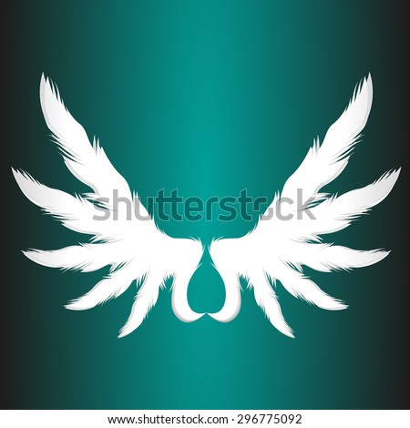 abstract angel paper wings business vector logo element  illustration - stock vector