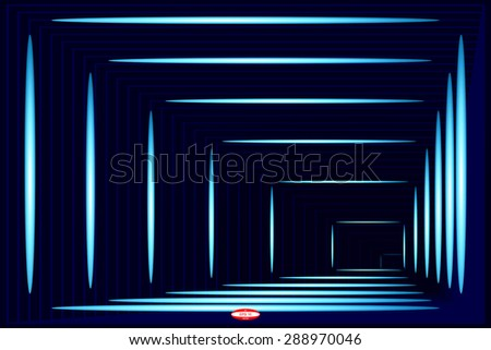 abstract angular dark blue pattern with dark cyan texture with turquoise lighting with indigo line on dark background. vector illustration - stock vector