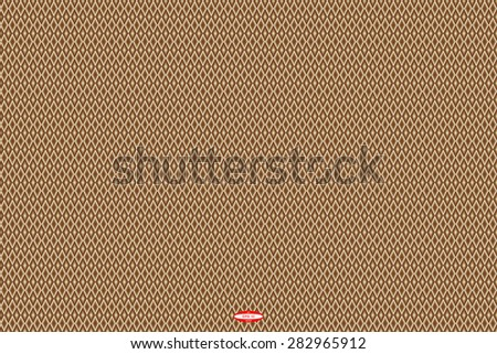 abstract angular dark bronze pattern chocolate texture with rhombus with abstract cream line on brown background. vector illustration