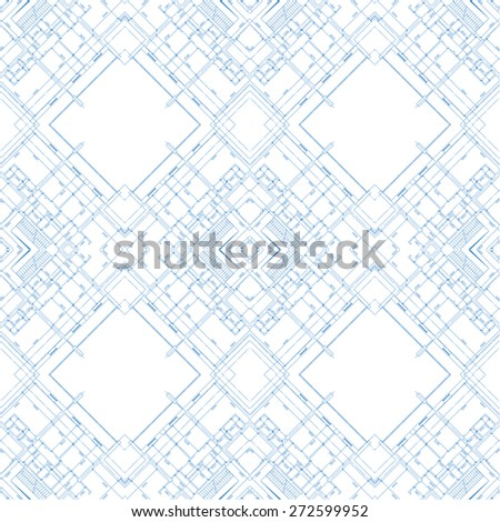 Abstract architectural background in unique style. Vector illustration - stock vector