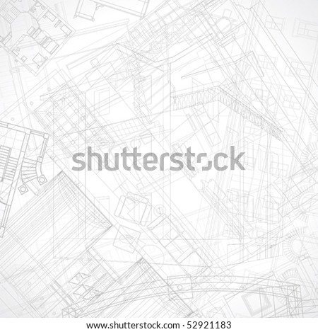Abstract architectural background. Vector illustration. - stock vector