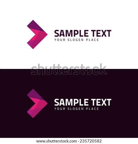 Abstract arrow business symbol - eps10 vector illustration - stock vector