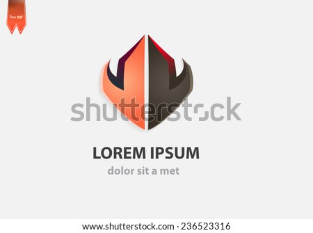 Abstract arrow logo template. Corporate shape for business. - stock vector