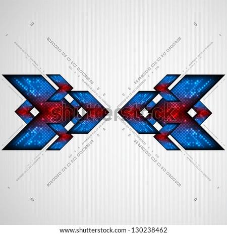 Abstract arrow pattern. Vector - stock vector