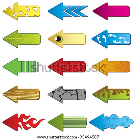 Abstract arrows - stock vector