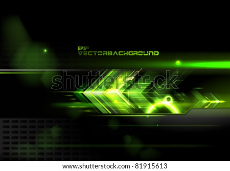Abstract Arrows Vector Illustration Background - stock vector