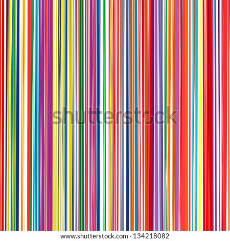 Abstract art rainbow curved lines colorful vector background 9 - stock vector