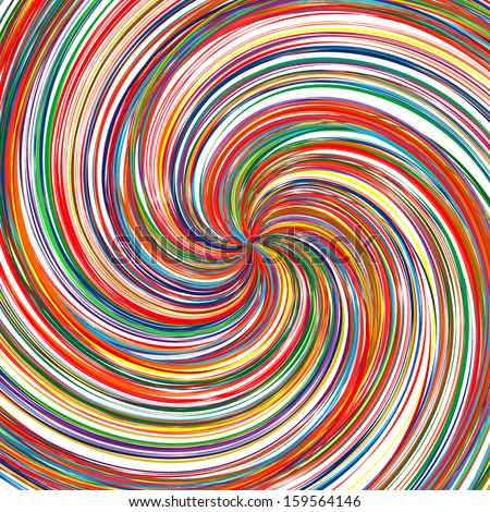 Abstract art rainbow curved lines swirl color vector background 19