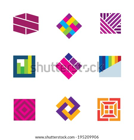 Abstract art template logo symbol be different decoration icon - stock vector