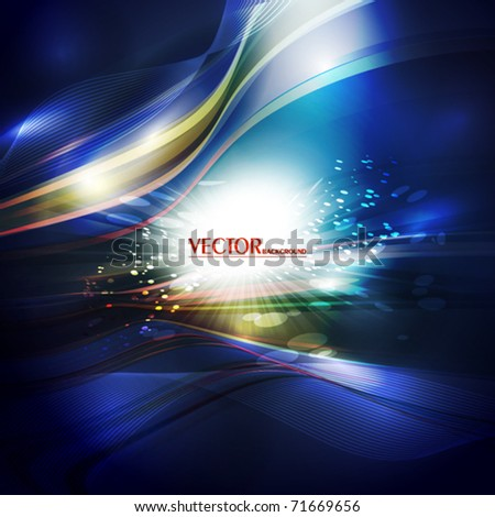 Abstract artistic card with lighting effect. Vector - stock vector