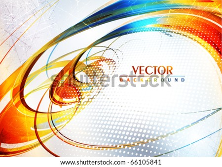 Abstract artistic color card. Vector - stock vector